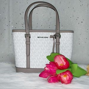 Michael Kors xs Tote Satchel Leather White